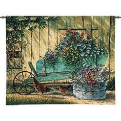 Pure Country Weavers Spring Social Tapestry - 3300-WH