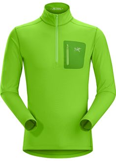 Rho LT Zip Neck Men's Lightweight Torrent™ zip neck base layer for lower output activities in cool temperatures.