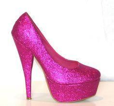 pink glitz heels