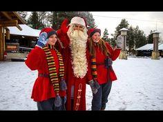 Primeira neve no Aldeia do Papai Noel na Finlândia