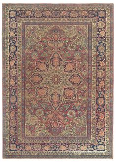 LAVER KIRMAN, Southeast Persian 4ft 7in x 6ft 3in Late 19th Century