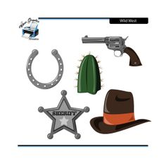 Wild West Clipart for Scrapbooking Print and Craft by WGPrintables, $2.00