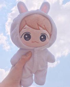Touch the sky. 🌱💦 #conyhyun #exodoll #baekhyun #엑소인형 #백현인형 #doll #cute #귀여워 #like4like #fff #dollstagram #엑소엘 #goods Pop Dolls, Cute Dolls, Baby Dolls, Exo Shop, Mochi, My Hero Academia Merchandise, Toy Bins, Soft Purple, Kpop Merch