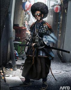 Afro Samurai by mark molnar Concept Art / Illustratior Ronin Samurai, Afro Samurai, Samurai Art, Cyberpunk Rpg, Cyberpunk Character, Black Characters, Sci Fi Characters, Skins Characters, Character Inspiration