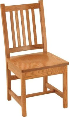 Amish Simple Mission Kitchen Chair A best selling wood chair from Amish country. The Simple Mission Kitchen Chair is strong, durable, and attractive. Crafted in wood of your choice. Made in America and built to last. #chairs #diningchair #kitchenchair