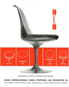 Saarinen Tulip Chair -- It's not Bertoia. But it's Knoll and a beautiful thing to behold.