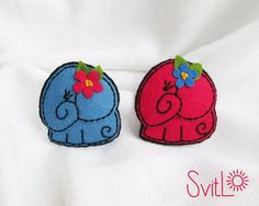 Little Elephant. Felt Brooch.Hand embroidery. Felt by SvitLoShop