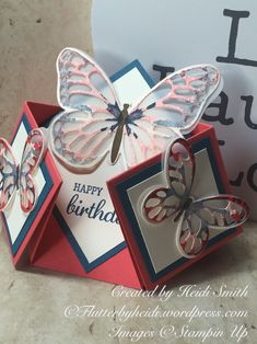 Double diamond fold card by stampin up uk demonstrator Heidi Smith flutterbyheidi