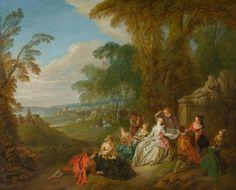 JEAN-BAPTISTE PATER  (Valenciennes 1695-1736 Paris)   Fête champêtre.