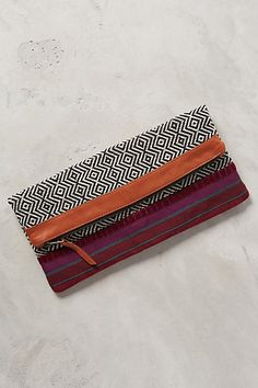 Rhombus Stitched Pouch #anthropologie