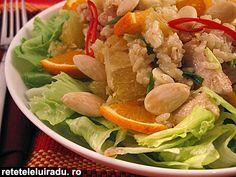 Oranges & almonds chicken salad