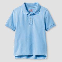 Toddler Boys' Pique Polo Shirt Cat & Jack - Light Blue 4T, Toddler Boy's