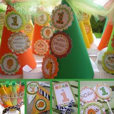 Safari Birthday Party Ideas - party hats