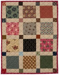 So simple but so pretty! Scrap Squares quilt by Kathleen Tracy - table topper, wall quilt, doll quilt, gift quilt. Tons of possibilities. Amische Quilts, Mini Quilts, Blog Art, Sewing Circles, Civil War Quilts, Miniature Quilts, Doll Quilt, Antique Quilts, Little Doll