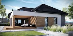 Find home projects from professionals for ideas & inspiration. Projekt domu HomeKONCEPT 29 by HomeKONCEPT Family Room Addition, Concept Home, Prefab Homes, Rental Property, Outdoor Rooms, Home Fashion, Exterior Design, Home Projects, Home Renovation