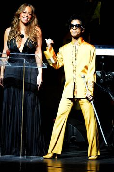 Prince shared the stage with Mariah Carey at Apollo Theater's 75th Anniversary Gala in 2009.