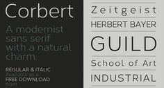 Corbert 100 Greatest Free Fonts Collection for 2013 - Awwwards - typefaces, webfonts, free fonts
