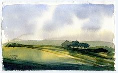 Don Gore landscape sketch  Small landscape sketch done fairly quickly trying to stay pretty loose in style (at least for me).  Watercolor o...