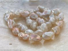 AAA Graduated Colour Superb Copper to White Keshi Freshwater Pearl Necklace