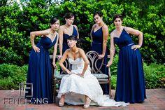 Bride and bridesmaids at Lioncrest at the Biltmore Estate