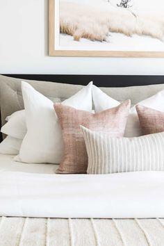 Bed Pillow Arrangement Inspiration King - Mindy Gayer Design Co.