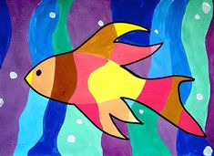 Fishes in warm and cool colors ...