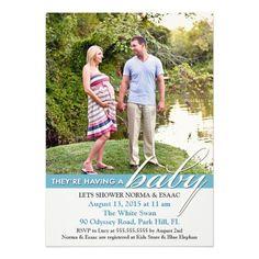 Baby Shower Photo Flat Invitation