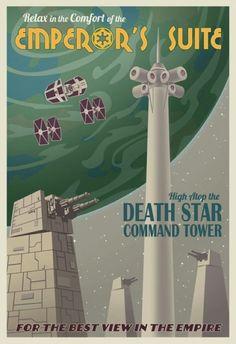 Retro Star Wars Travel Ads : trfling