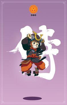 Allez hop, Vous me prenez les personnages de DB, rajoutez l'univers samouraïs version japon féodale, le tout au mixeur et vous obtenez ce magnifique travail de Daniel Jacob «Dragon Ball :...
