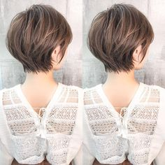 Pin on ショートカット Chic Short Hair, Asian Short Hair, Short Hair Updo, Girl Short Hair, Short Hair With Layers, Short Hair Cuts For Women, Medium Hair Styles, Short Hair Styles, Haircut For Thick Hair