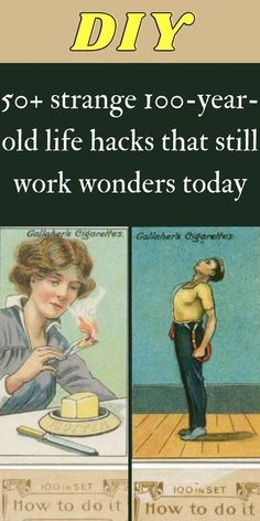 A lot of life hacks have been widely spread online in recent years but little did we know that some of these hacks have been around for a pretty long time. #50+ #strange #100yearold #lifehacks Love Bears All Things, 1000 Life Hacks, Survival Stuff, Making Life Easier, Still Working, I Feel Good, Wall Clocks, Diy Hacks, Face Care