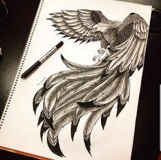 60 Best Phoenix Tattoo Designs – The Coolest Symbol for Tattoo - i like tattoos - Tatoo Ideen Tattoo Drawings, Body Art Tattoos, New Tattoos, Sleeve Tattoos, Cool Tattoos, Tatoos, Phoenix Bird Tattoos, Phoenix Tattoo Design, Phoenix Tattoo Sleeve
