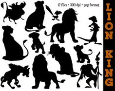lion king nala silhuette | ...  More Silhouette // Disney Clipart // Lion King Party Silhouettes