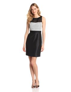 Lace Top Sheath Dress by Taylor Dresses