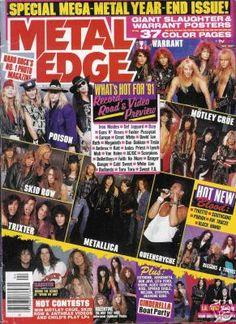metal edge magazine   ... > Products > 4/91 METAL EDGE mag! MARK SLAUGHTER LITA FORD MEGADETH