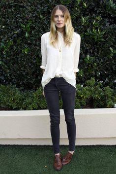 tomboy buttondown blouse and pants