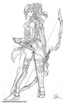 Elven Ranger Aniera by MeganeRid.deviantart.com on @deviantART