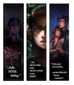 "pojainter: ""Hey guys! the 24 hour flash sale has ended BOOOOO, but…… Bookmark's are back in stock, and I've added a new one! YEYY!!!! £5.00 + shipping - worldwide shipping available! Visit www.pojainter.bigcartel.com for ACOMAF prints and more"