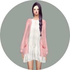 Spring Dress With Cardigan at Marigold via Sims 4 Updates