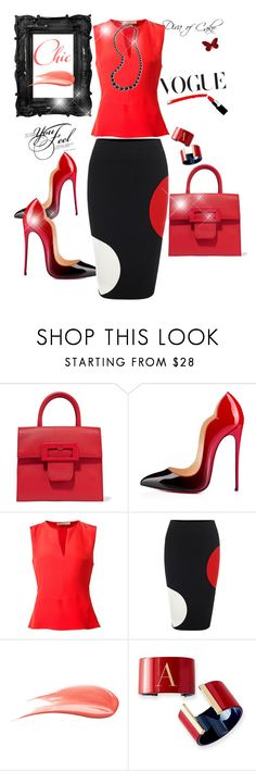 """Red and Black"" by Diva of Cake on Polyvore featuring Maison Margiela, Christian Louboutin, Etro, Alexander McQueen, Hourglass Cosmetics, Mark & Graham and Carolee"