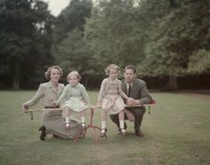Ex-King Michael of Romania in the garden of his home, Ayot House in Hertfordshire, with his wife, Princess Anne of Bourbon-Parma and their daughters Margarita and Elena on September (Photo by Keystone/Getty Images) Mary I, Queen Mary, Queen Anne, Queen Victoria Descendants, Queen Victoria Family, Michael I Of Romania, Romanian Royal Family, Peles Castle, Royal Photography