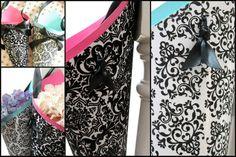Custom Black / White Wedding Decor Cone Velvet OR by AlicesWedding, $10.00