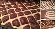 Hamis rácsos sütemény csokoládékrémmel és banánnal