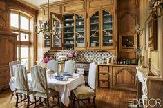 An Old World Dining Room- ELLEDecor.com