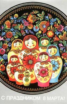 matryoshka doll plate