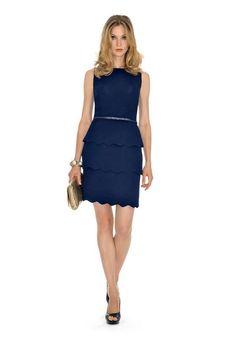 Trucco per vestito blu corto lungo