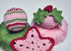 Décorations de Noël au crochet - Patron de boule multicolor