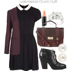"""Lydia Inspired Church Outfit"" by veterization on Polyvore"