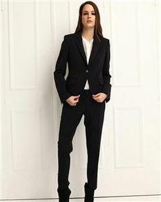 Geniş Çizgili Kumaş Pantolon SPARTA W1014