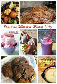 Passover Menu Plan 2015